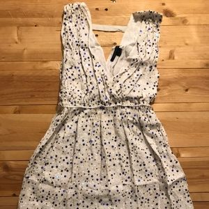 French Connection White Sequin Mini Dress size-2